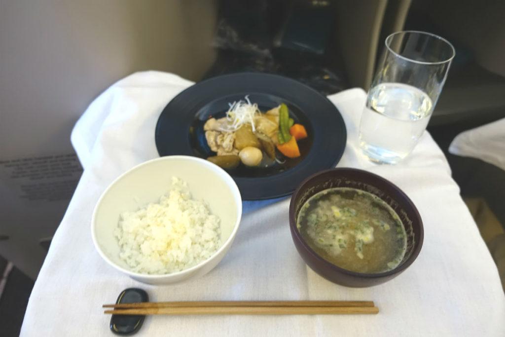 ガルーダインドネシア航空 GA 881 ボーイング777-300ER ビジネスクラス 機内食和食02