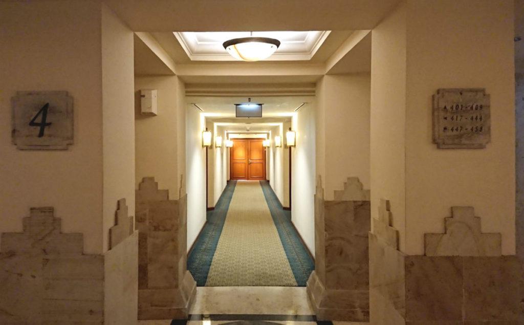 ハイアットリージェンシー ジョグジャカルタ 客室の廊下