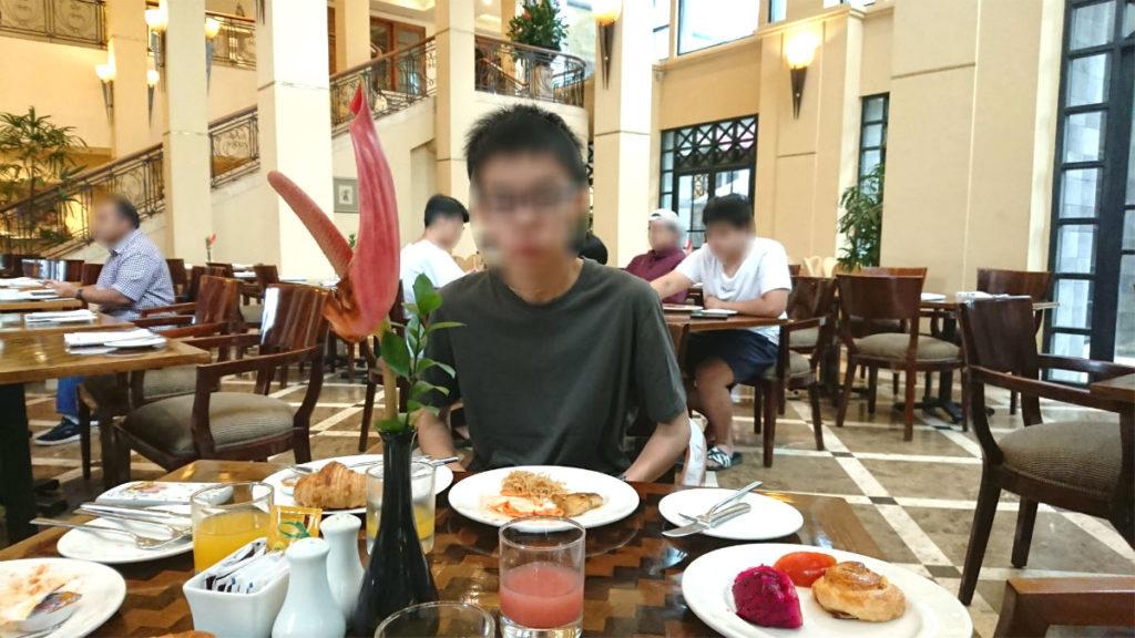 ハイアットリージェンシー ジョグジャカルタ Kemangi Bistro での朝食