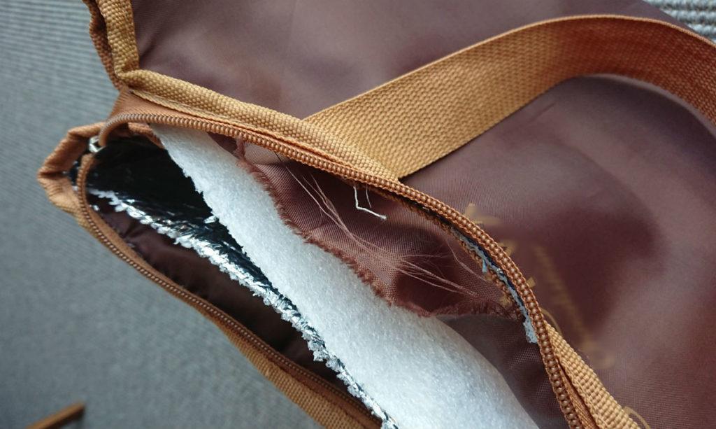 旧保冷バッグ 持ち手が破損