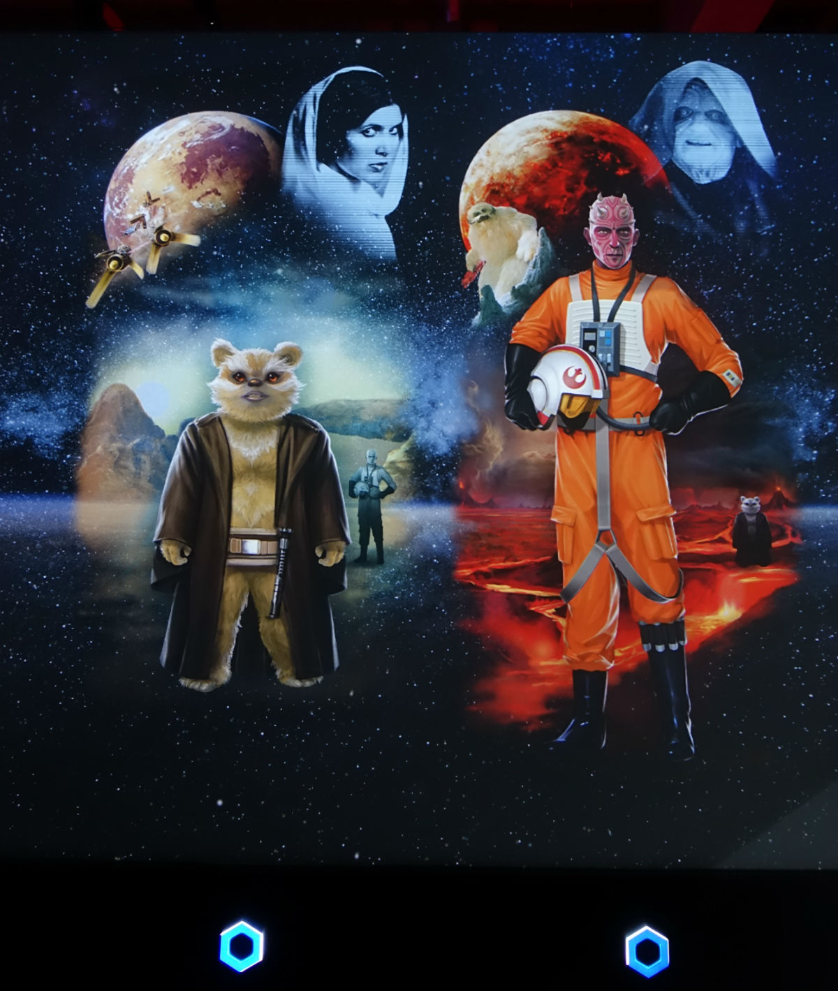 Star Wars Identities Japan 出来上がったキャラクター投影 2キャラ