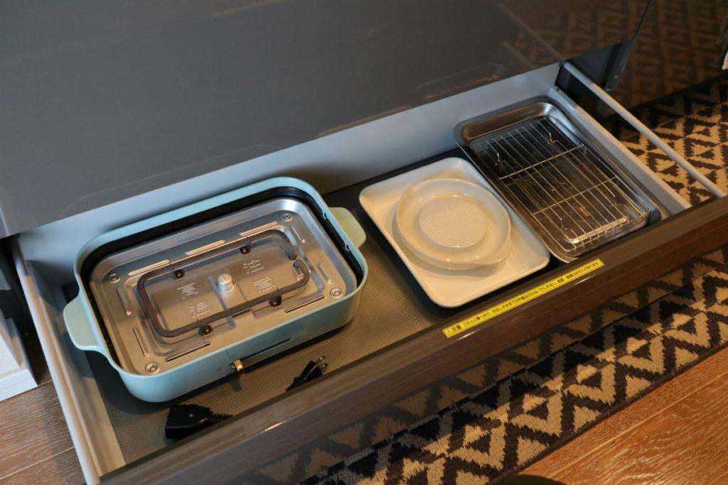 BRUNO コンパクトホットプレート キッチンシンクしたに収納