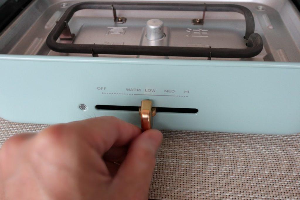 BRUNO コンパクトホットプレート 温度調整つまみ