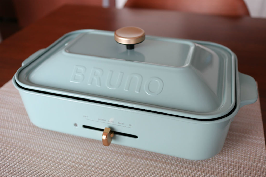 BRUNO コンパクトホットプレート 平面プレートとフタをセット