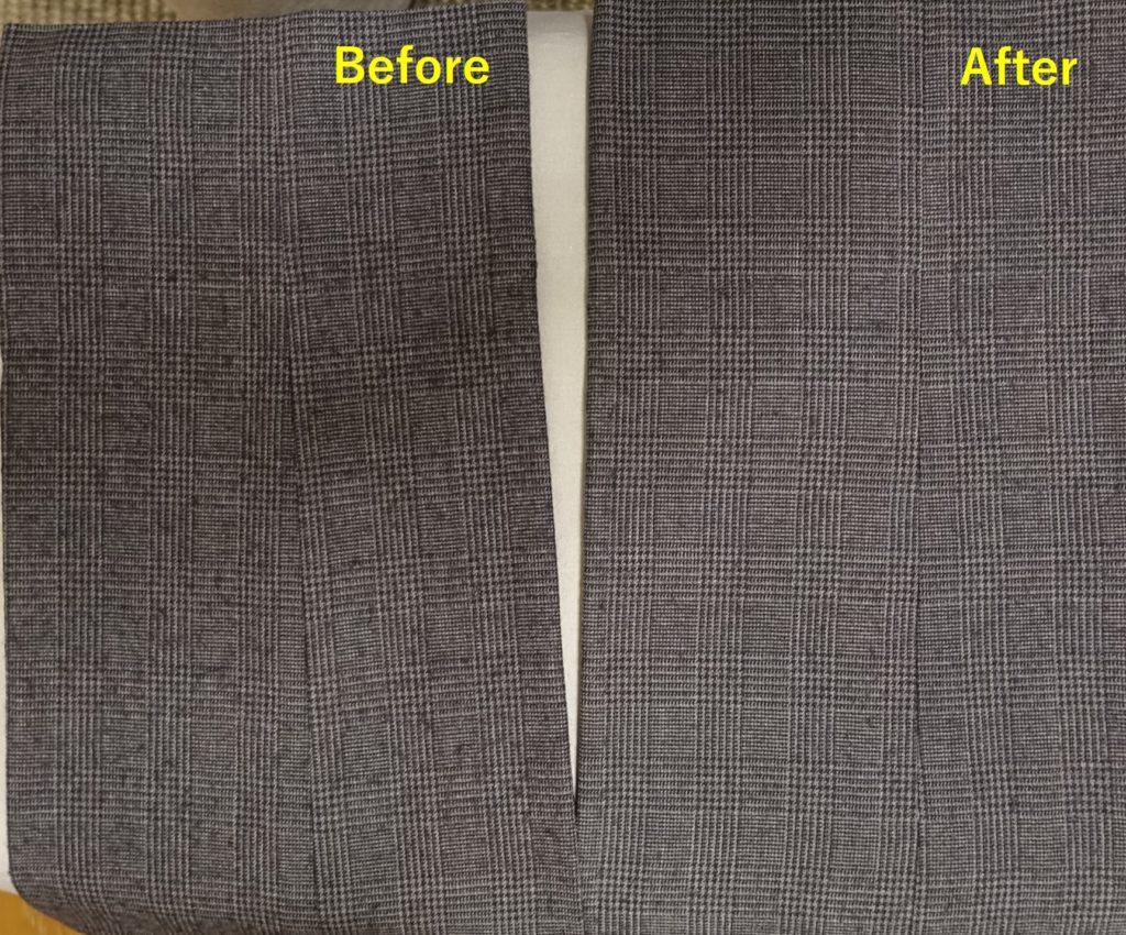TESCOM 毛玉取り器 KD800-W 使用前後 毛40% ポリエステル40%のパンツ