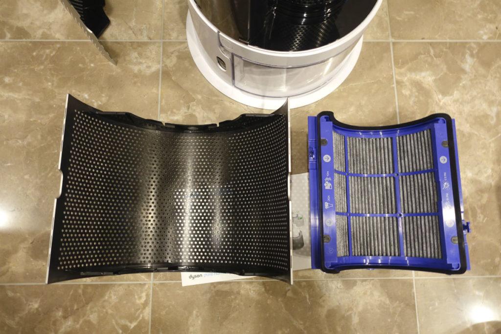 HP01 pure humidity+cool フィルターカバーとフィルター
