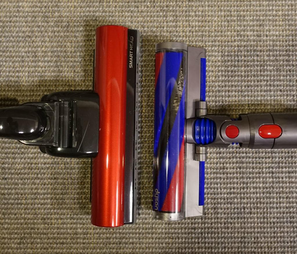 Dyson V8 Slim Fluffy+ vs Hitach PV-BD700  クリーナーヘッド比較