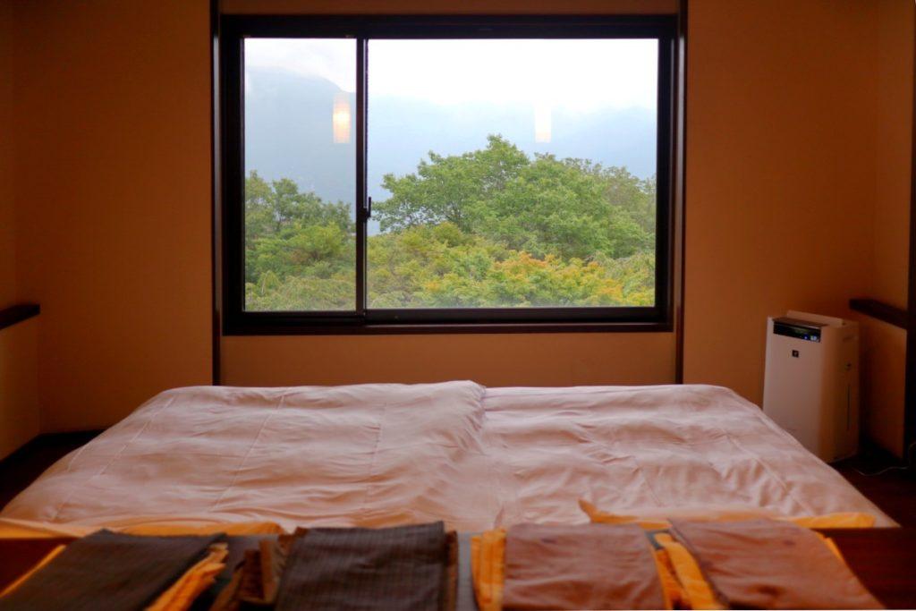 強羅花扇準特別室 東の窓からの眺め
