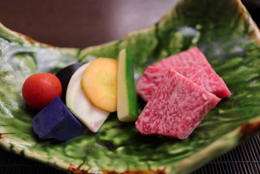 強羅花扇 9月夕食 お肉 台の物