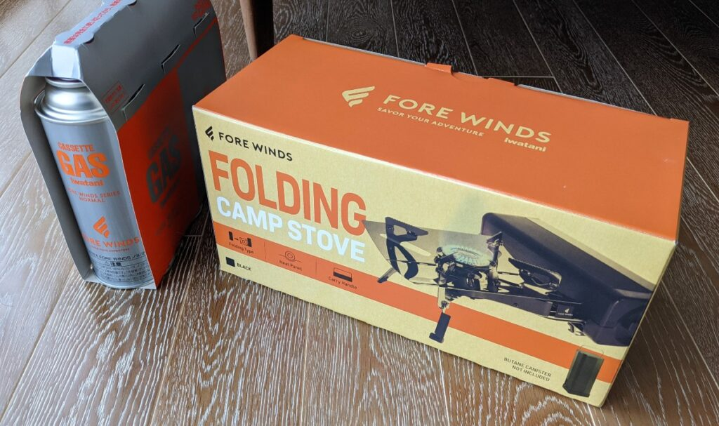 FORE WINDS FOLDING CAMP STOVE パッケージ