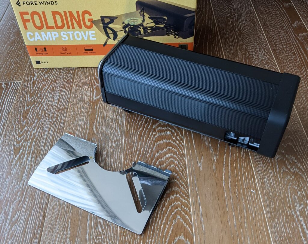 FORE WINDS FOLDING CAMP STOVE 本体とヒートシールド